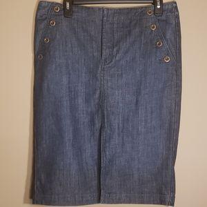 Level 99 Pencil Demin Skirt Slit Front Size 31